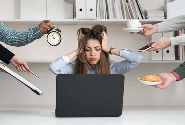 chaos at work - porzellan druck stock-fotos und bilder
