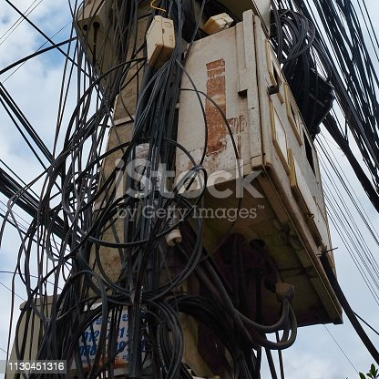chaos in power lines, tangled city communications, problems with power supply