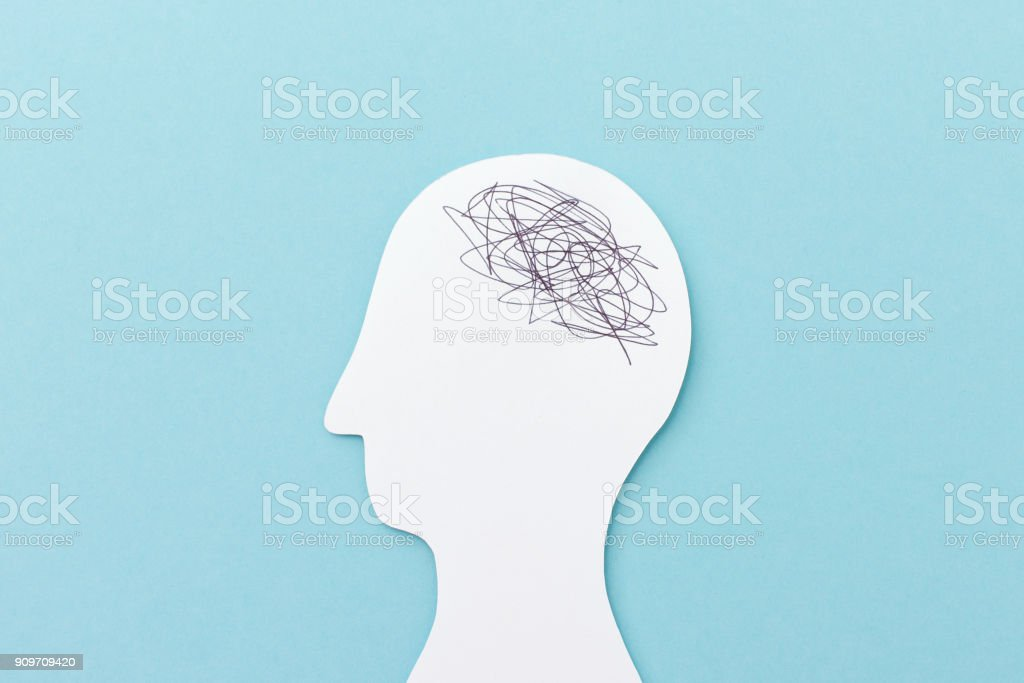 Chaos in the brain stock photo