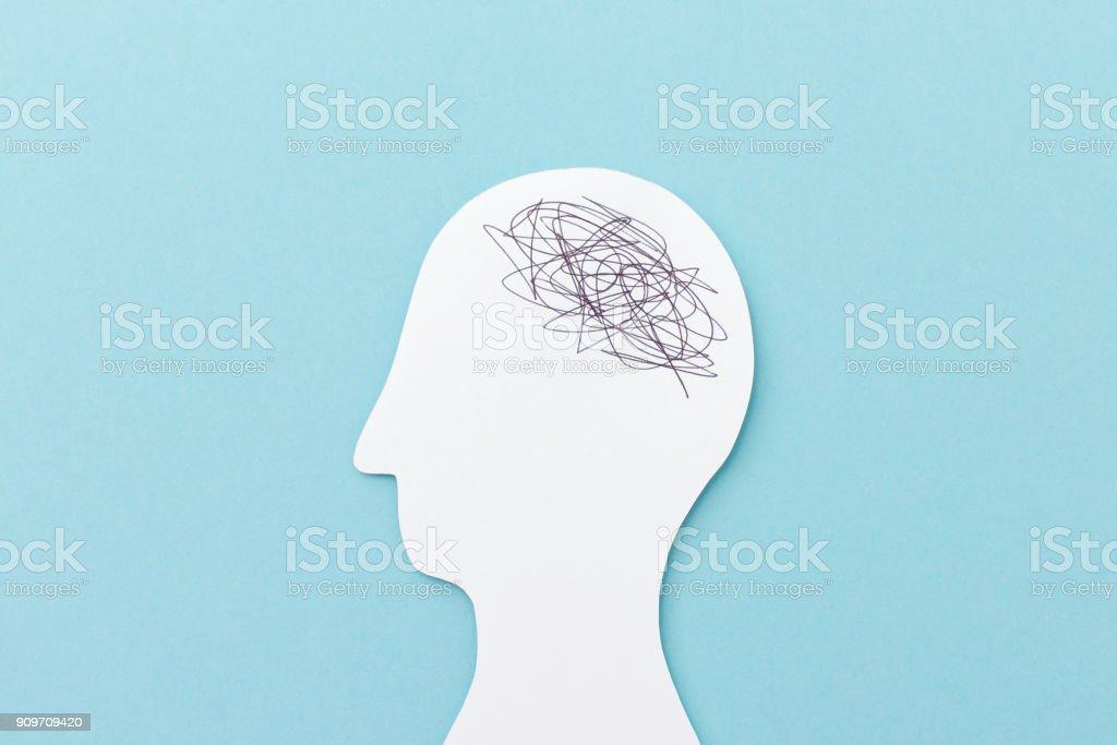 Caos no cérebro - foto de acervo