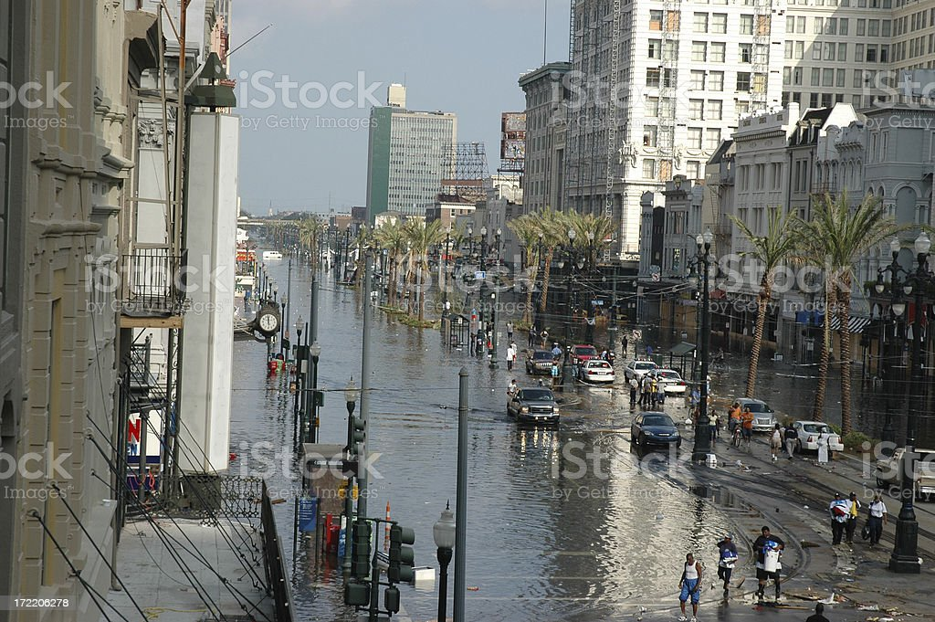 Chaos in the French Quarter royalty-free stock photo
