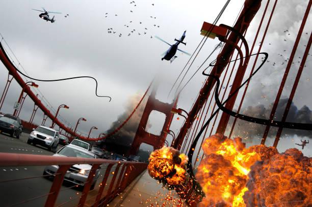 Chaos auf der Golden Gate Bridge – Foto