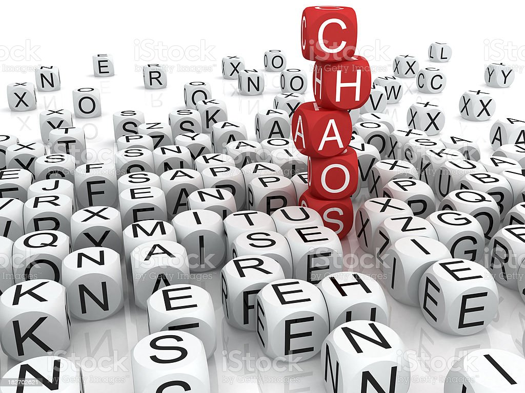 Chaos royalty-free stock photo
