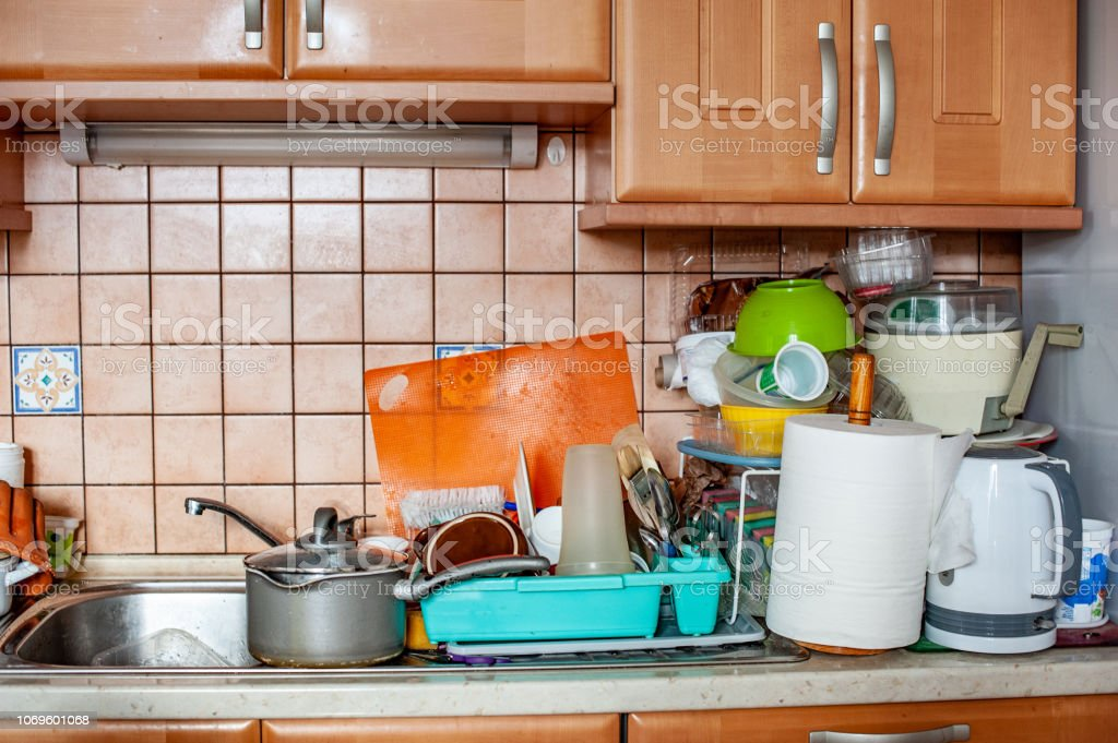 Chaotic and Messy Kitchen