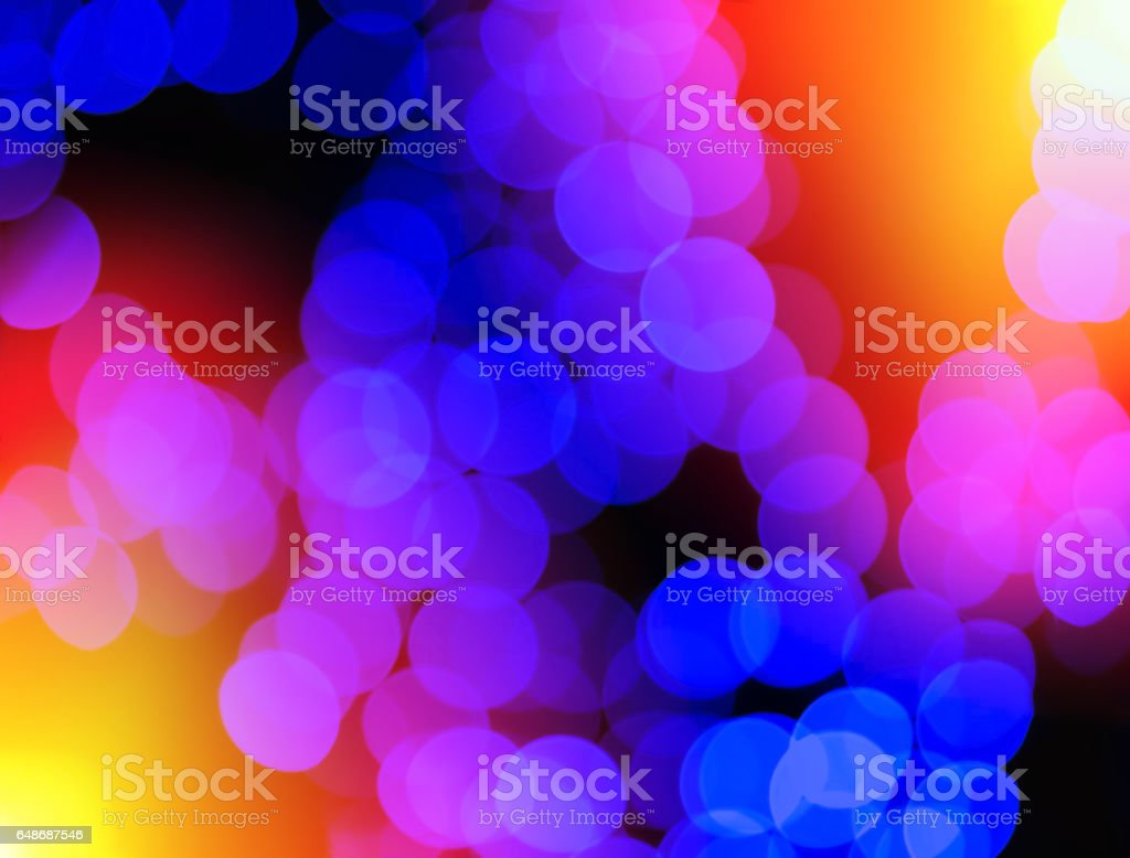 Chaotic blue blobs with light leak bokeh background stock photo