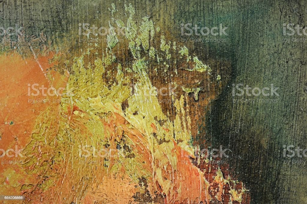 Chaotic brushed of oil colors. Useful for texture or background. stock photo