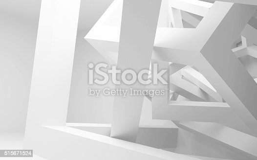 istock Chaotic construction of cubes. 3d illustration 515671524