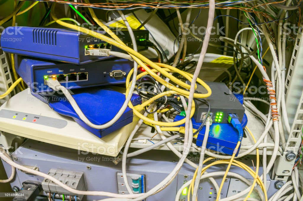 Chaotic Interlacing Of Wires Between Modems Switches And ... on