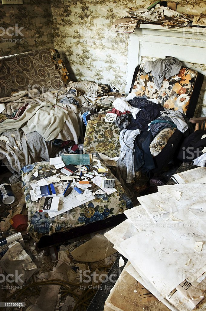 Chaotic Living Room stock photo