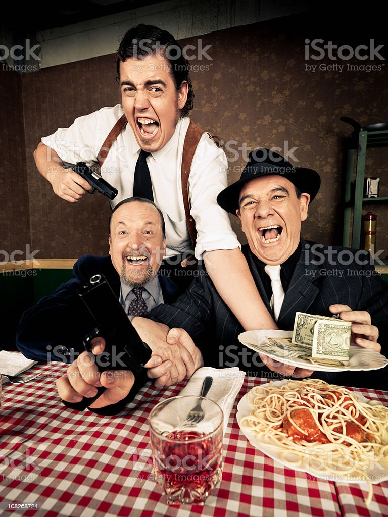 Chaotic Mafia Members stock photo