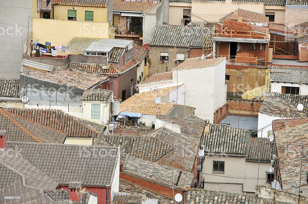 Chaotic rooftops royalty-free stock photo