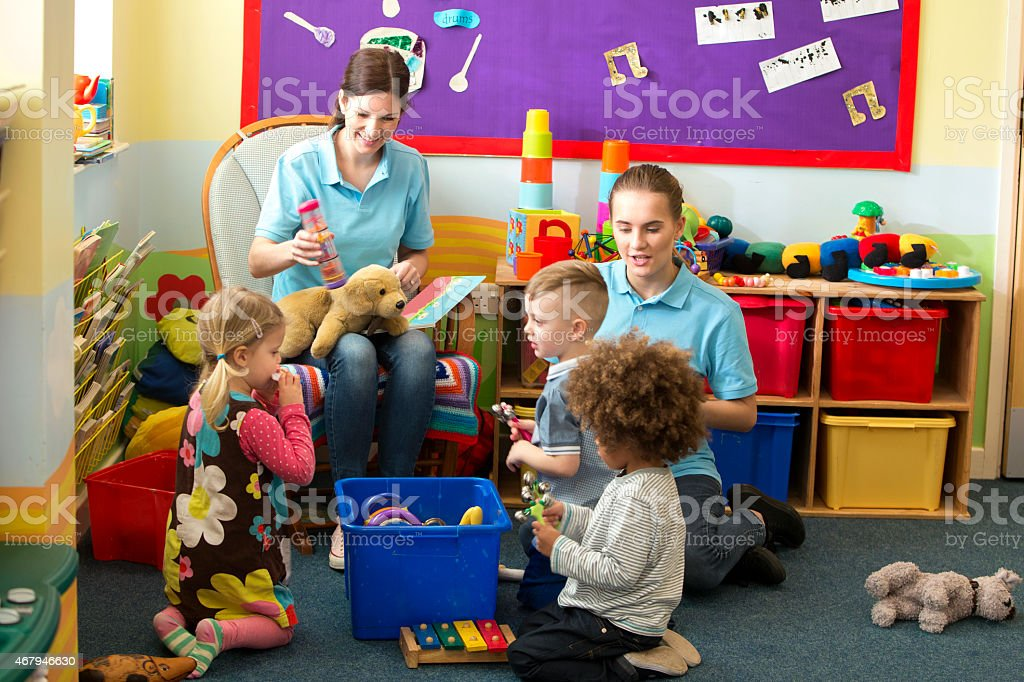 Chaotic Story Time stock photo