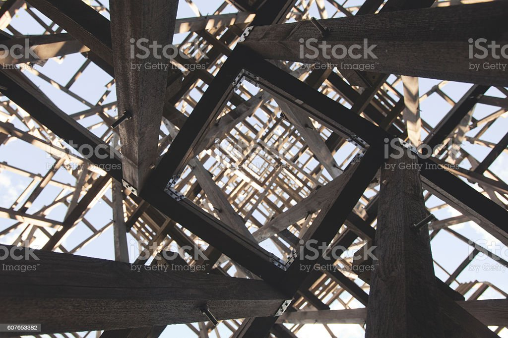 Chaotic structure. Abstract angular geometric texture stock photo