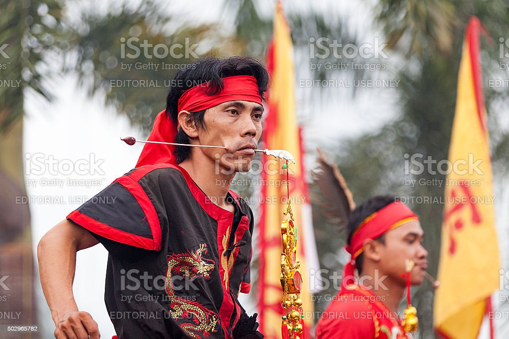 Chap Go Meh Festival in West Kalimantan, Indonesia. stock photo