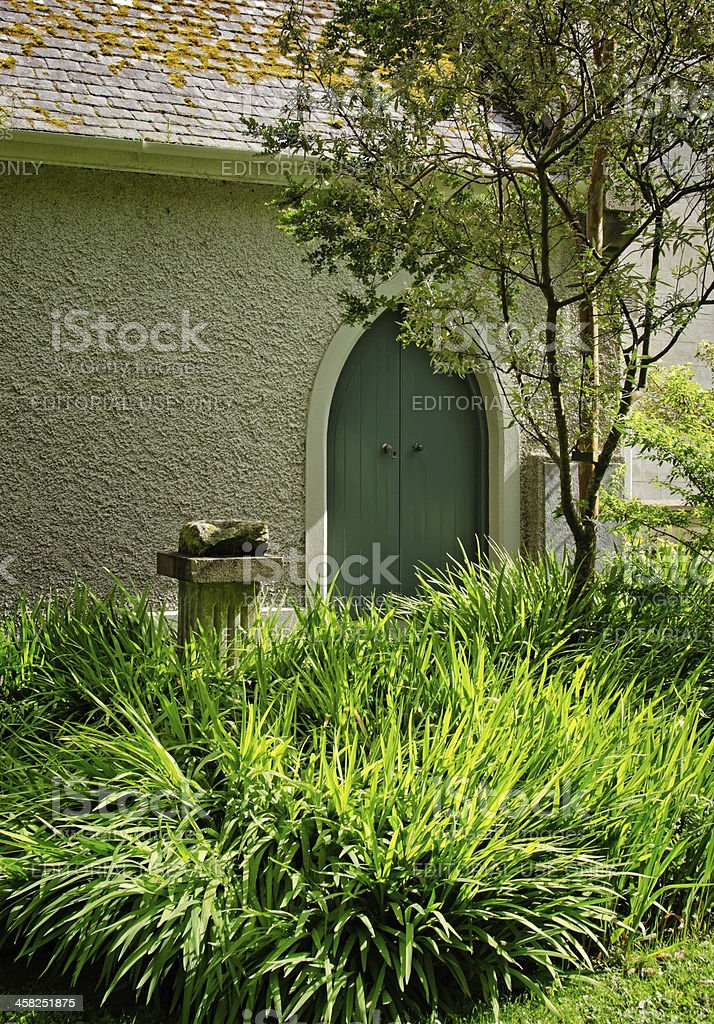 Chapel and garden at Derrynane House National Park in Ireland stock photo