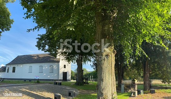 Chapel Cross in perspective with Chapel view in the province country of Limburg