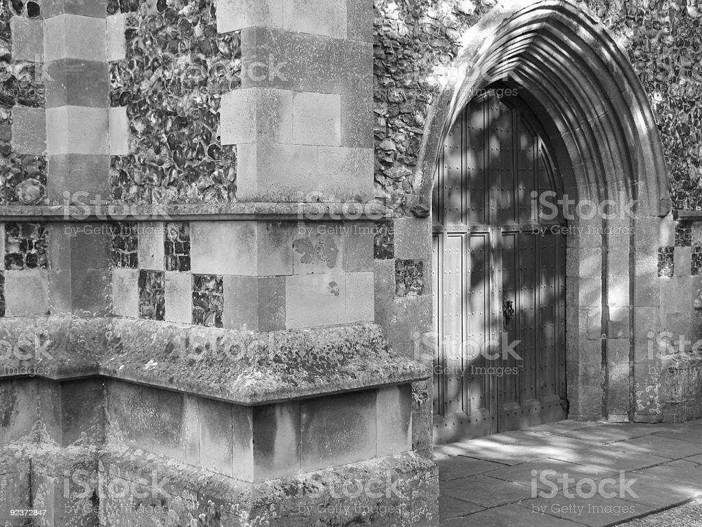 Kapelle Eingang B & W Lizenzfreies stock-foto