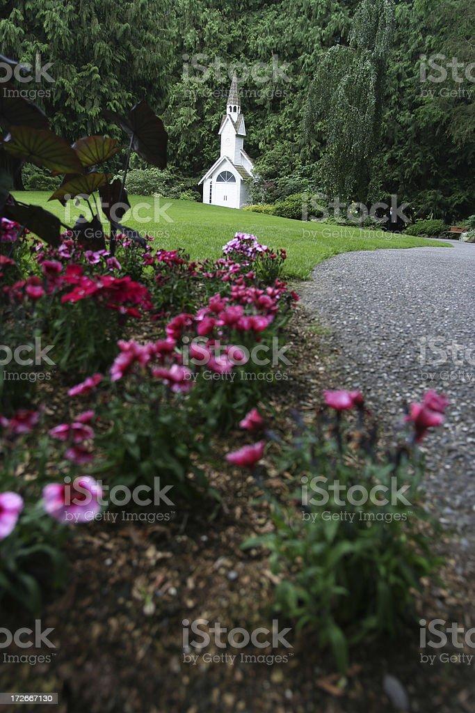 Chapel Garden royalty-free stock photo