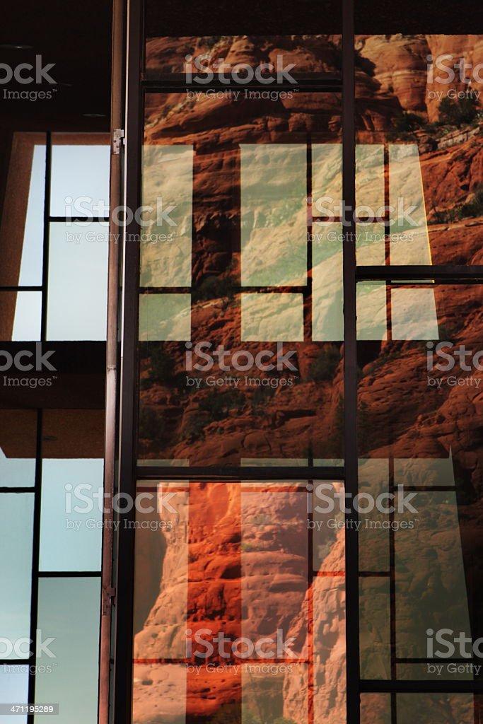 Chapel Holy Cross Abstract Window Reflection royalty-free stock photo