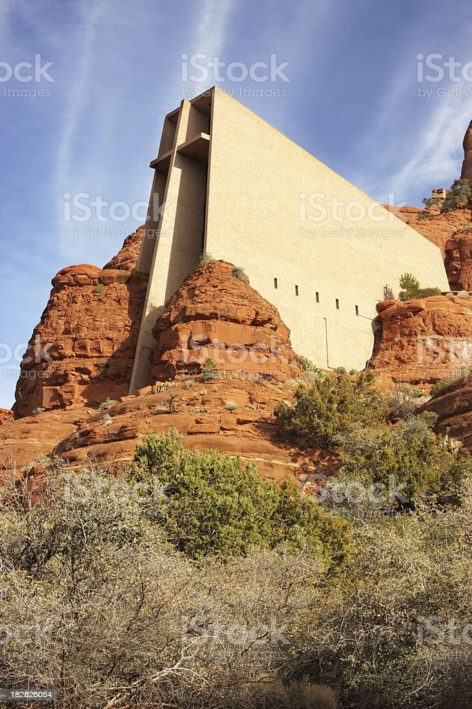 Chapel Holy Cross Sedona royalty-free stock photo