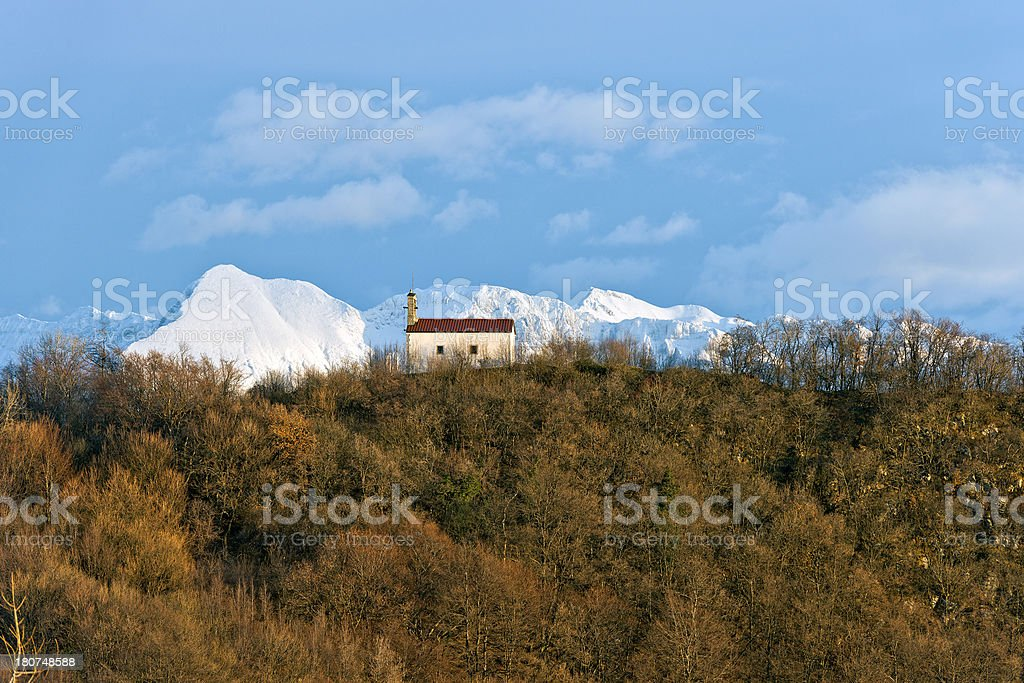 Chapel in Julian Alps Slovenia Europe royalty-free stock photo