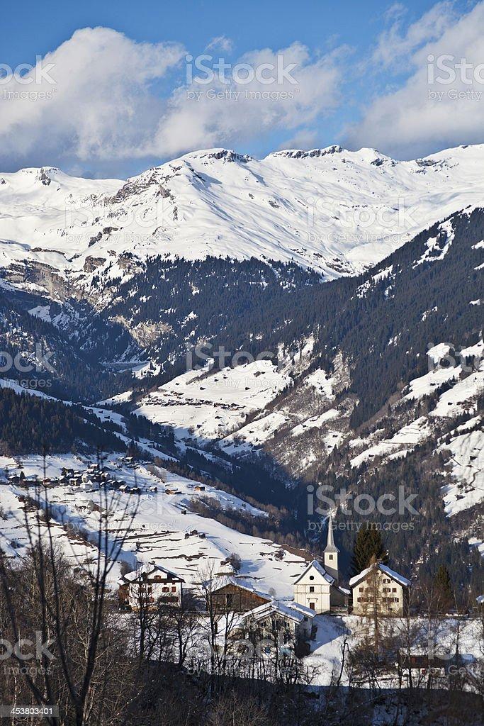 Chapel in Obersaxen-Egga stock photo