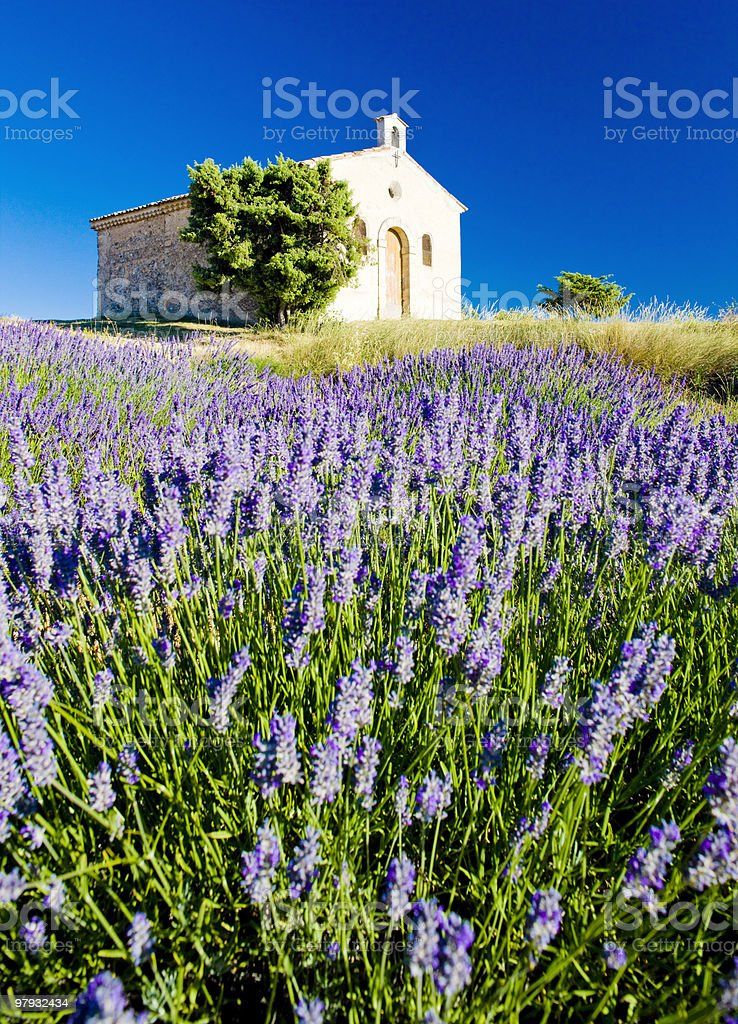 chapel in Provence royalty-free stock photo
