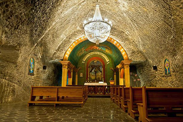 Chapel in Salt Mine Wieliczka Poland stock photo