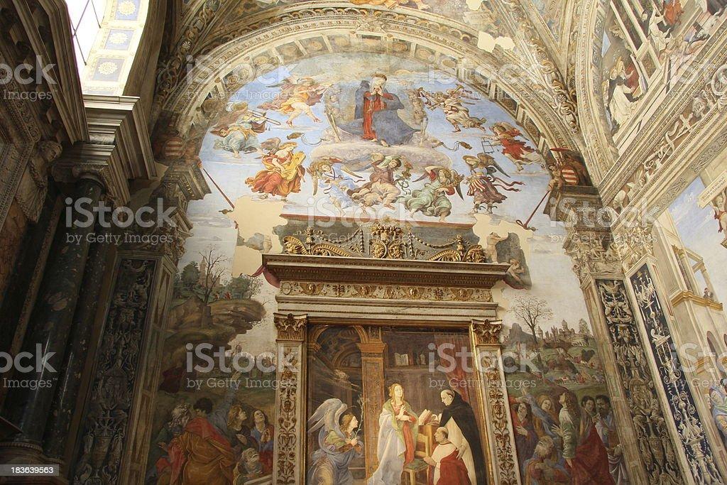 chapel in Santa María del Popolo (Rome) church royalty-free stock photo