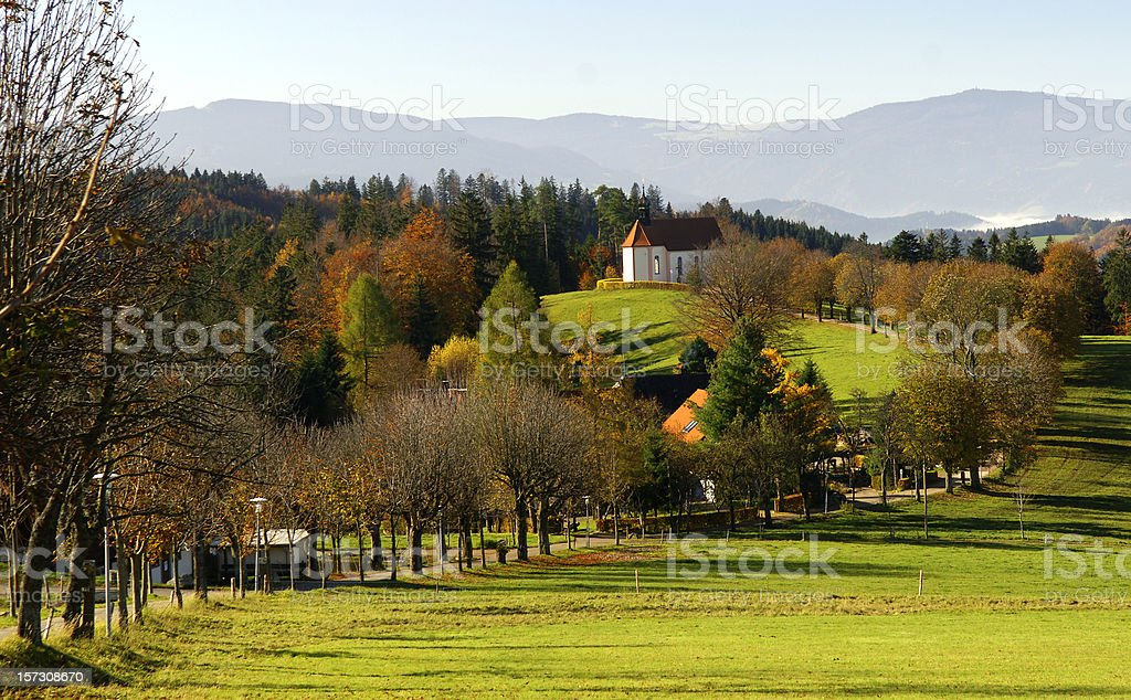 Chapel in St.Märgen, Black Forest stock photo