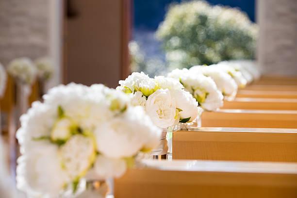chapel in the morning - 結婚式 ストックフォトと画像