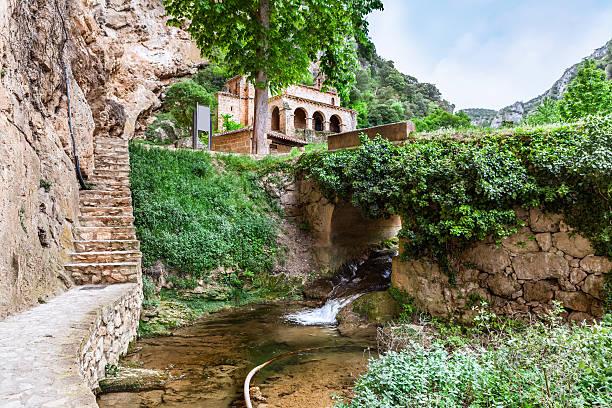 chapel in the  tobera, castilla and leon. spain - burgos fotografías e imágenes de stock