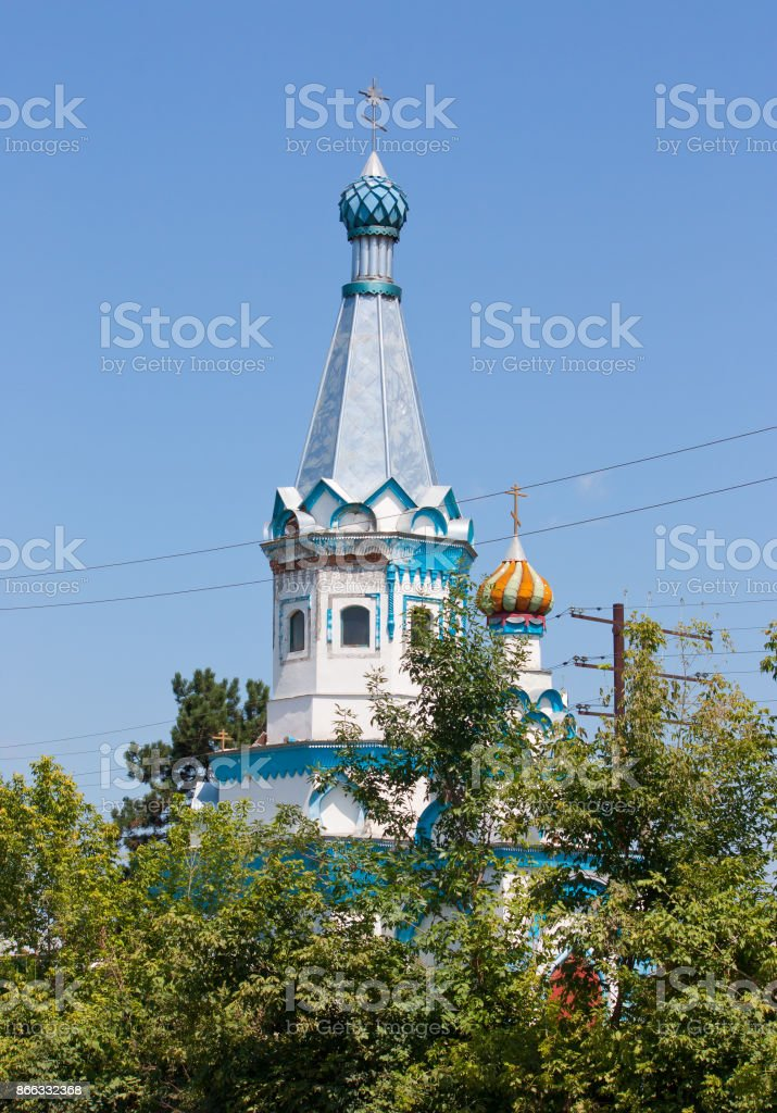 Chapel of Alexander Nevsky in the town of Beslan, North Ossetia, Russia stock photo