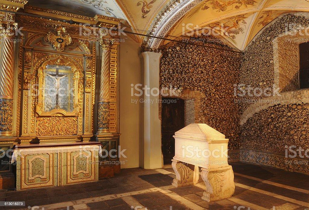 Chapel of Bones stock photo