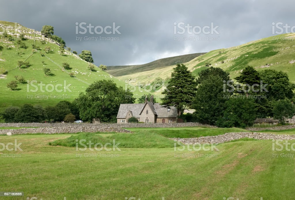Chapel of Buckden in North Yorkshire, England. stock photo