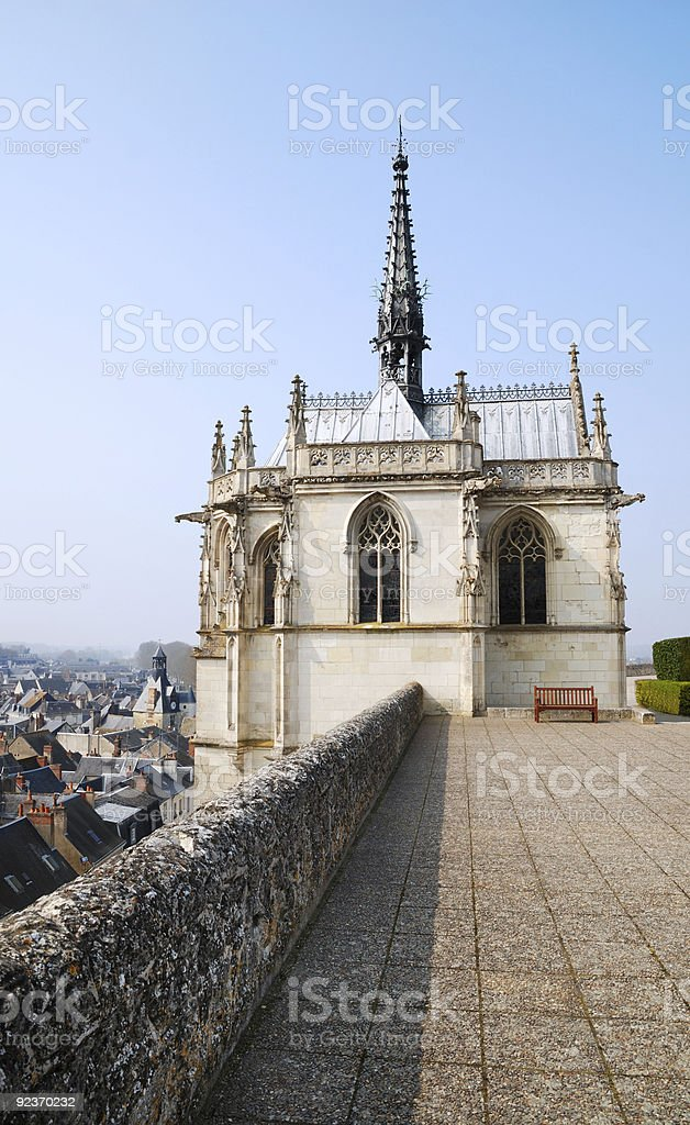 Chapel of castle in Amboise, France royalty-free stock photo
