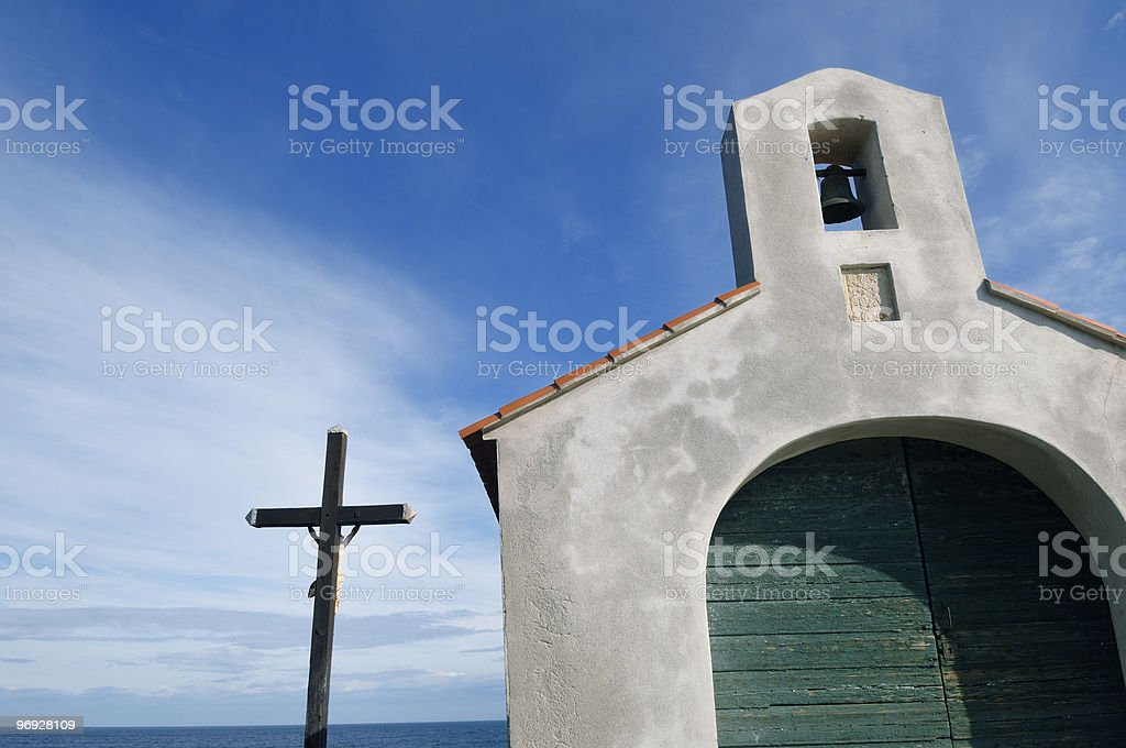 chapel of Collioure royalty-free stock photo