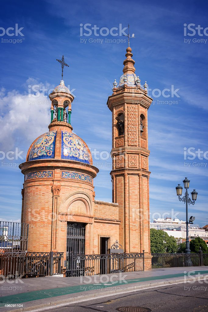 Chapel of El Carmen, Triana district, Seville Spain stock photo
