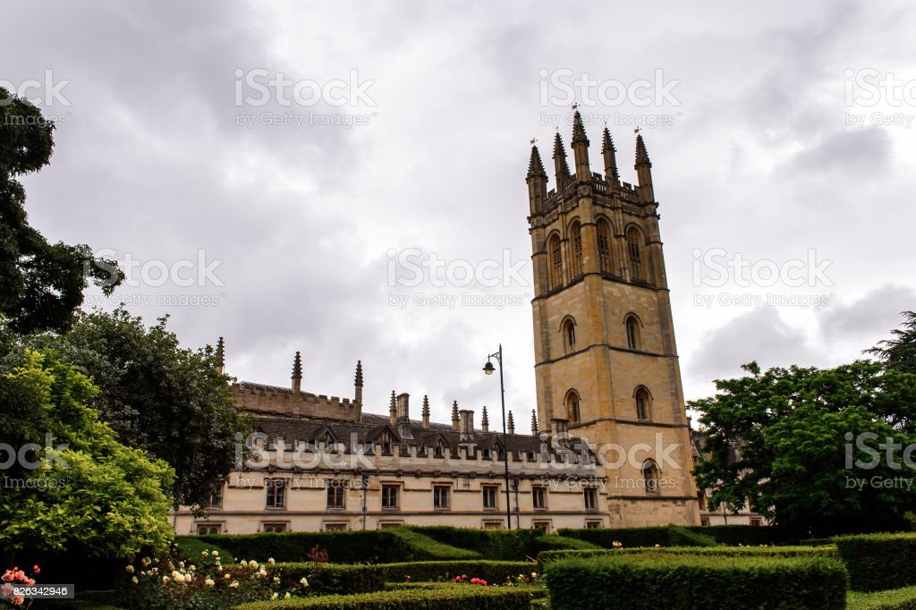 Chapel of Merton College, Oxford, England. Oxford is known  as the home of the University of Oxford stock photo