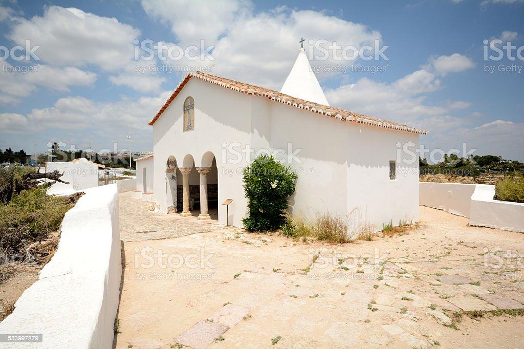 Chapel of Nossa Senhora da Rocha, Porches Lagoa, Algarve Portugal stock photo