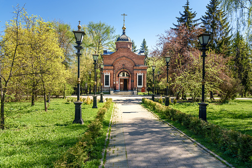 Chapel Of Saint Blessed Grand Prince Alexander Nevsky In Yekaterinburg Russia — стоковые фотографии и другие картинки Архитектура