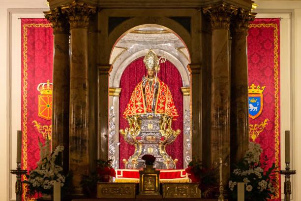 Chapel of San Fermin in San Lorenzo church, Pamplona, Spain stock photo