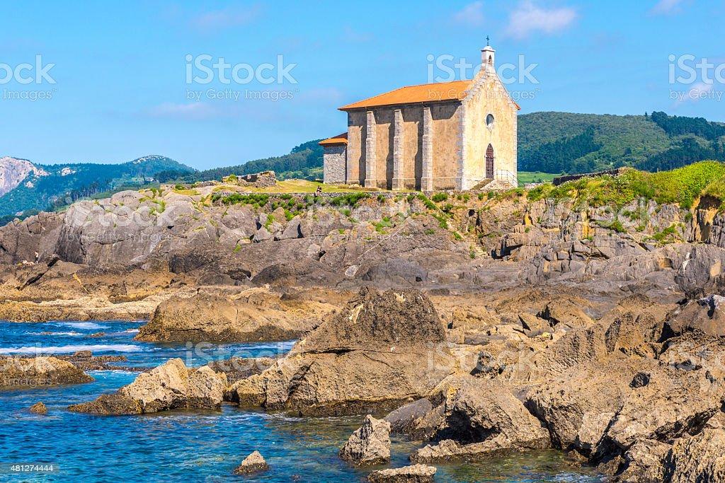 Chapel of Santa Catalina in Mundaka, Bizkaia, Spain stock photo