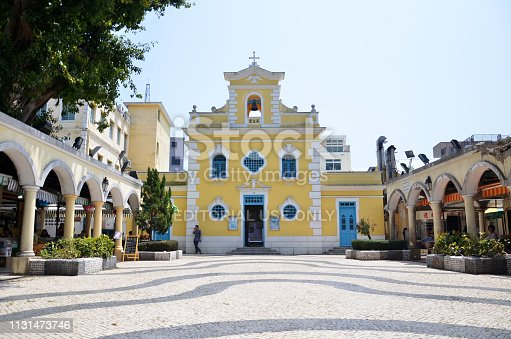 Chapel of St. Francis Xavier in Coloane island Macau