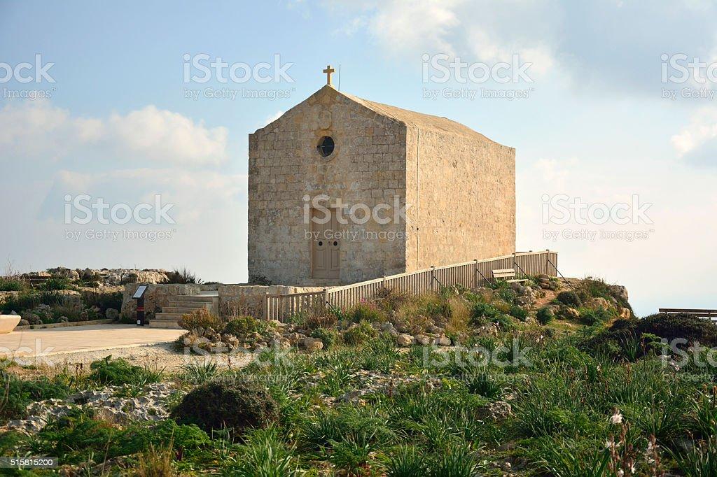 Chapel of St Mary Magdalene in Dingli, Malta. stock photo