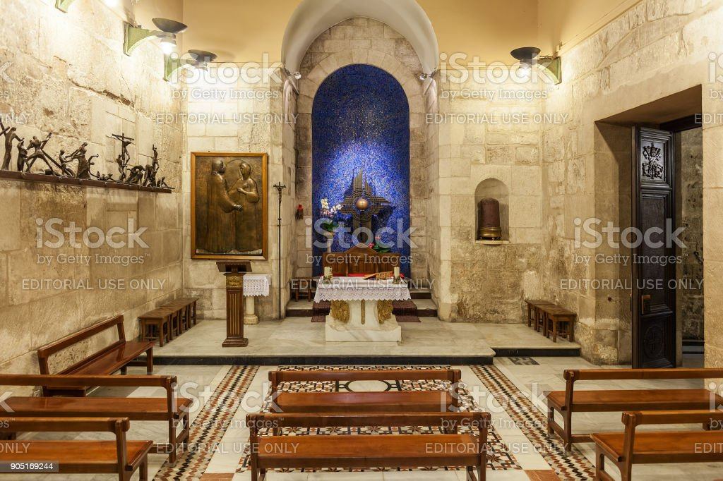 Chapel of the Blessed Sacrament. stock photo