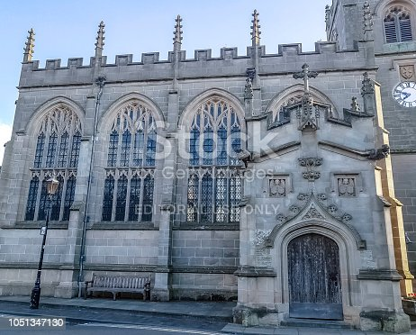 Stratford-upon-Avon, Warwickshire, United Kingdom - August 05, 2018:Chapel of the Guild of the Holy Cross