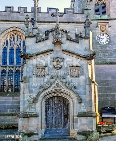 Stratford-upon-Avon, Warwickshire, United Kingdom - August 5, 2018: Chapel of the Guild of the Holy Cross