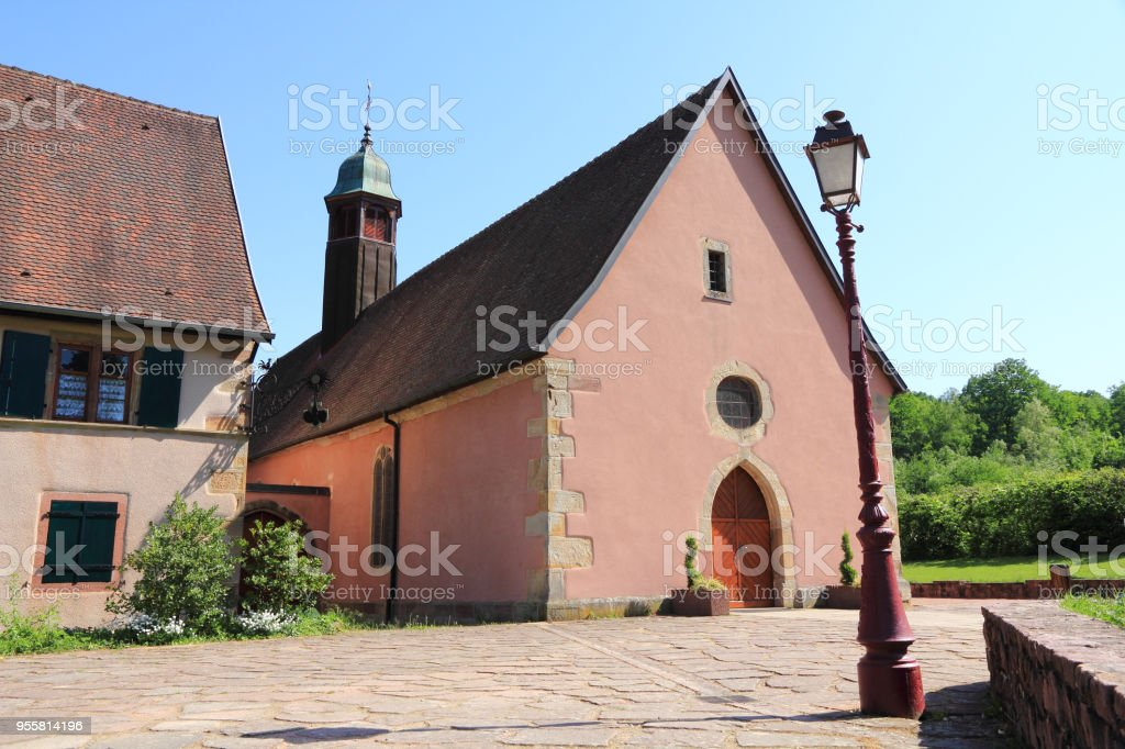 Chapel of the Schaeferthal to Soultzmatt (Alsace) stock photo