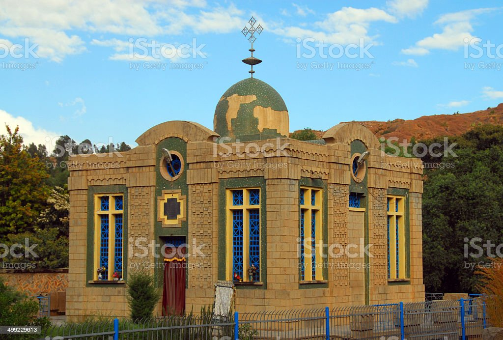 Chapel of the Tablet, Ark of the Covenant, Axum, Ethiopia stock photo